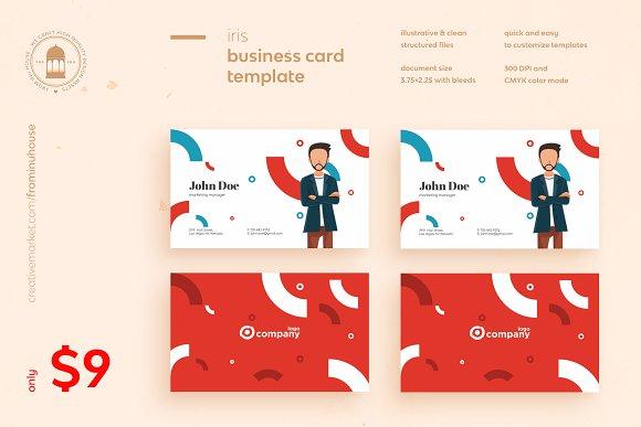 Iris Business Card Template