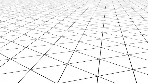 White Triangle Tile Flooring In Business Concept Texture Background 3D Illustration