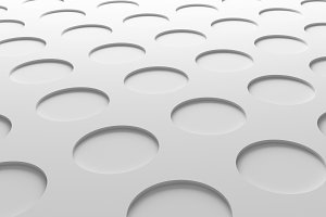 White circles texture. Abstract pattern flooring background. 3d illustration.