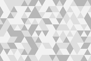 White and grey triangle tiles texture, seamless pattern background. illustration