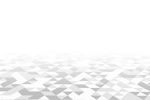 White triangle tiles texture, pattern background. 3d illustration