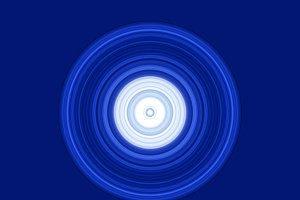 Blue modern circles abstract on blue background in technology concept, illustration