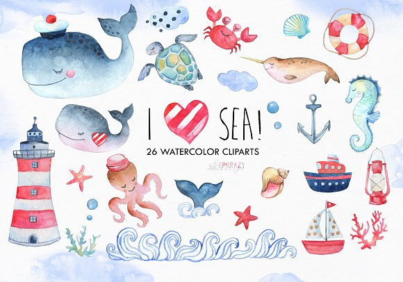 Nautical Clipart Sea Animals