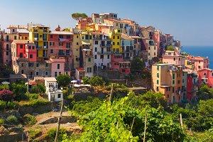 Panorama of Corniglia, Cinque Terre, Liguria, Italy