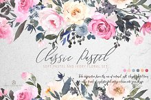 Watercolor Flowers: CLASSIC PASTEL