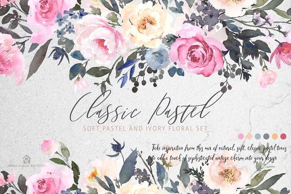 Watercolor Flowers: CLASSIC PASTEL