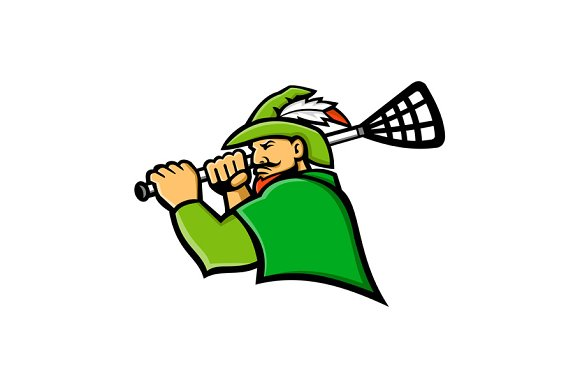 Archer Lacrosse Sport Mascot