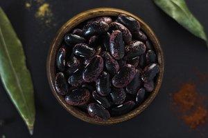 dry beans flatlay