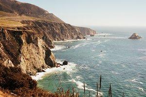 Hwy 1 California Road Pacific Ocean