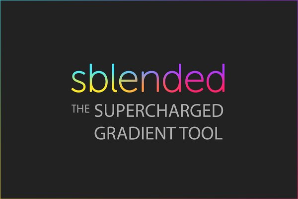 Add-Ons: Sblended - Sblended: Supercharged Gradient Tool