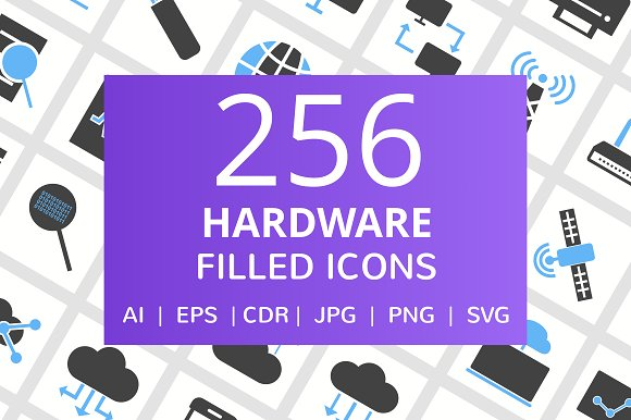 256 Hardware Filled Icons
