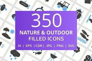 350 Nature & Outdoor Filled Icons