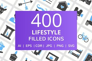 400 Lifestyle Filled Icons