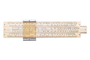 Old slide ruler