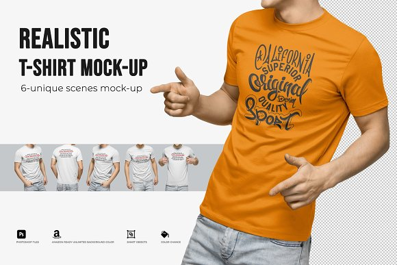 Download Realistic T-Shirt Mock-Up