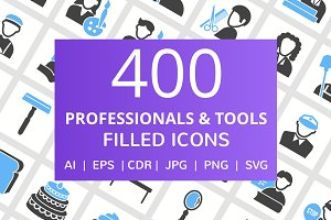 400 Professional & Tool Filled Icons