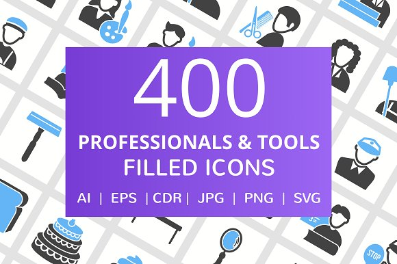 400 Professional Tool Filled Icons