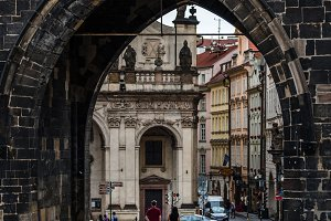Arch of Old Town Bridge Tower in Charles Bridge