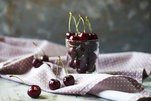 Summer ripe cherries