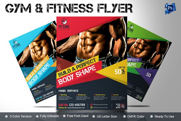 Gym Flyer Fitness Flyer