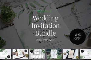 Wedding Invitation Bundle, Aurora