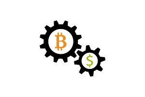 Bitcoin and dollar exchange