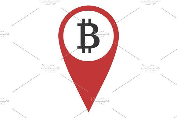 Geo Pin With Bitcoin