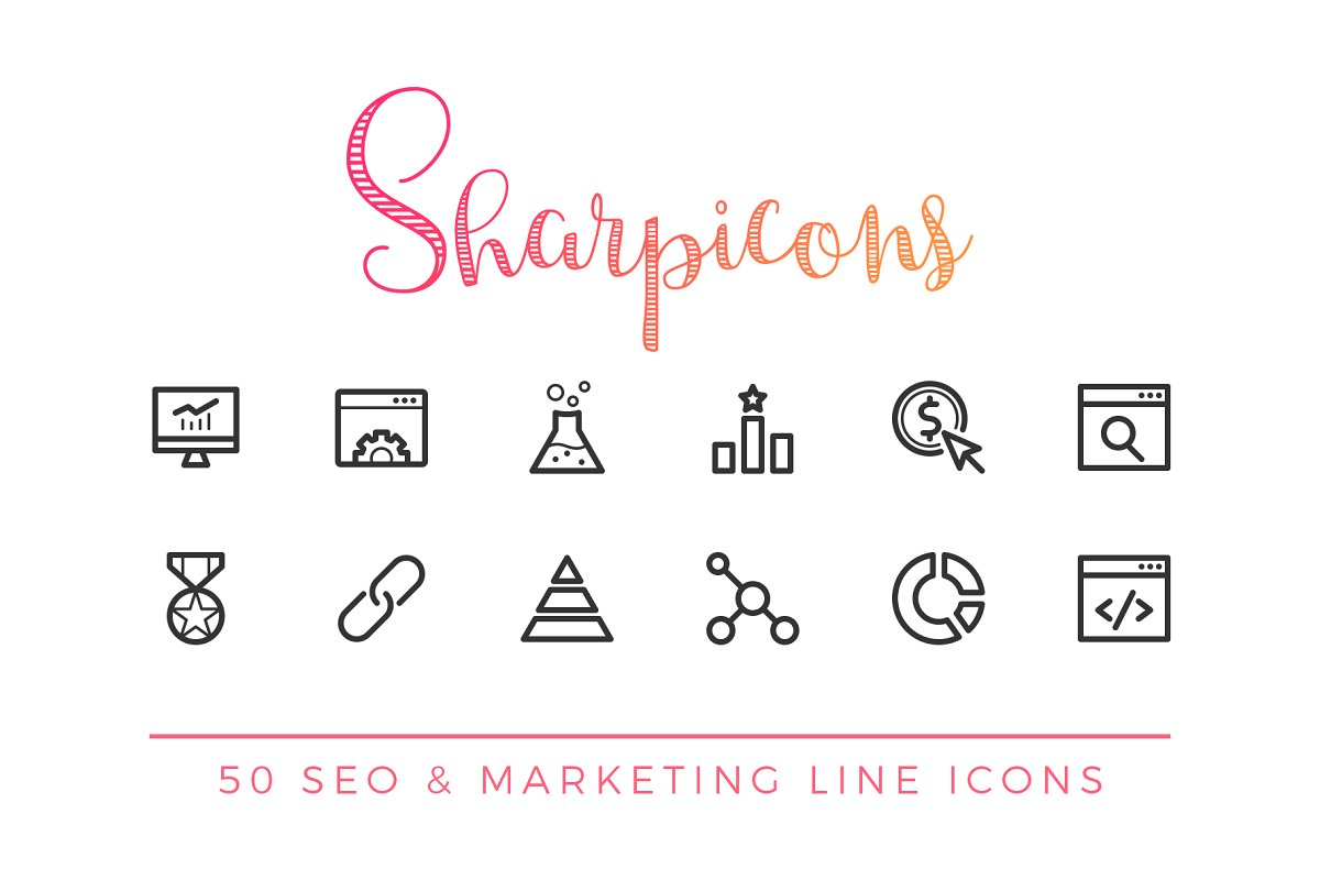 SEO & Marketing Line Icons