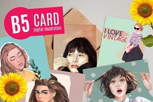 B5 CARD Digital Illustration