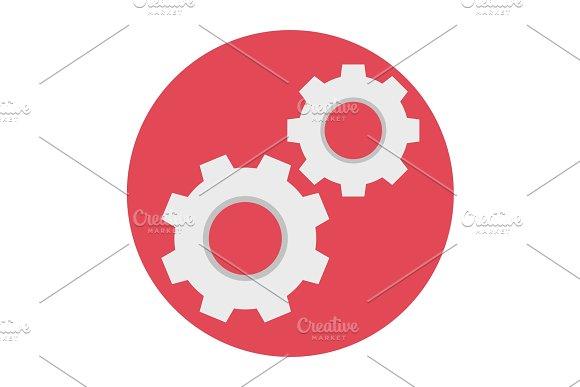 Cogwheels Flat Icon