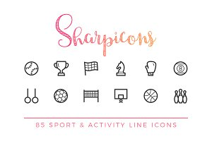 Sport & Activity Line Icons