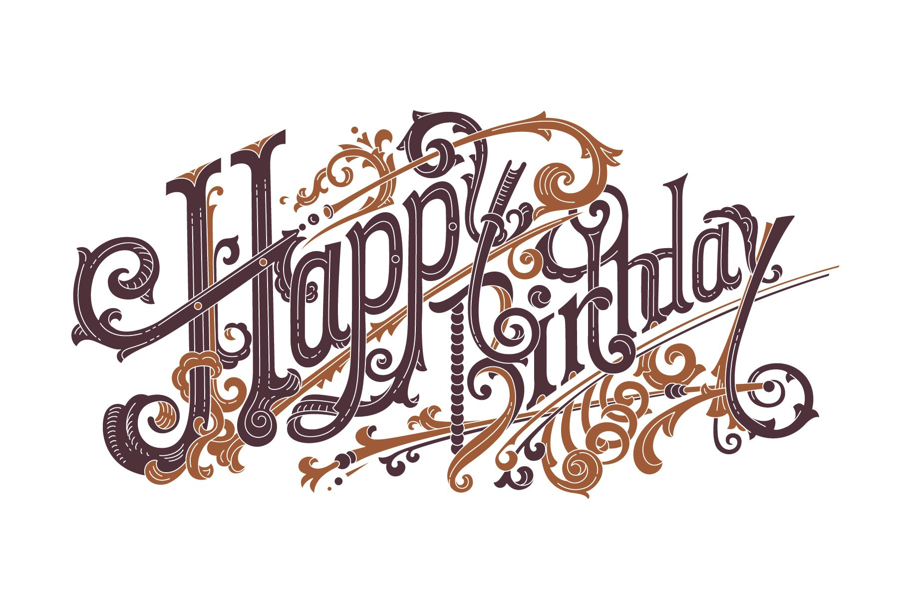 calligraphy happy birthday in different fonts