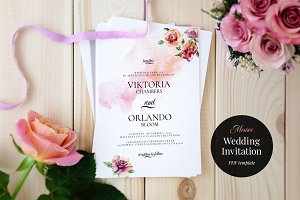 Wedding Invitation Template, Monroe