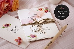 Wedding Invitation Suite, Monroe