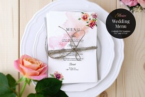 Wedding Menu Template, Monroe