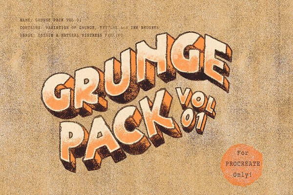 Photoshop Brushes: The Makery - Grunge Pack Vol 01