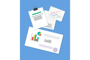 Pinned Document, Business Strategy Illustration