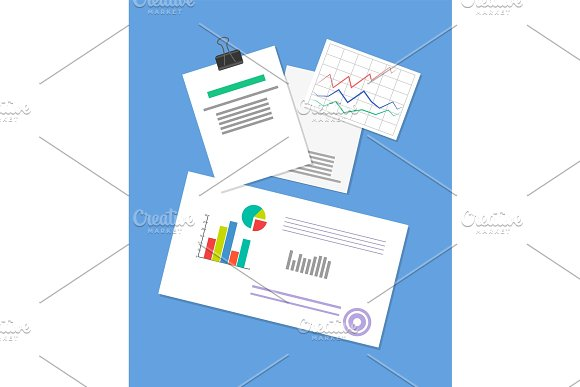 Pinned Document Business Strategy Illustration