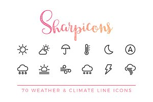 Weather & Climate Line Icons