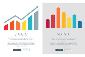 Statistic Charts on Promo Internet Banners Set