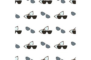 Glasses and Spectacles Pattern Vector Illustration