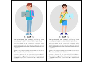 Students Education Poster Place Text Woman and Man
