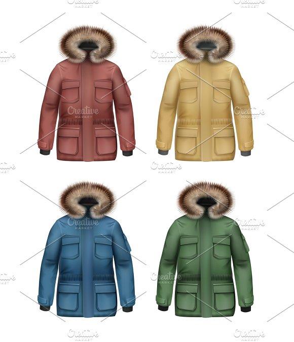 Set Of Winter Coats