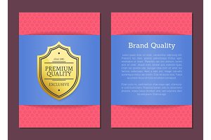Brand Quality Poster Premium Choice Since Label