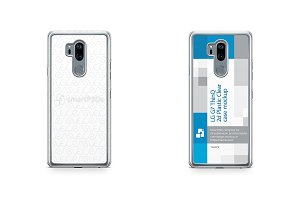 LG G7 ThinQ 2d PC Clear Case Mockup