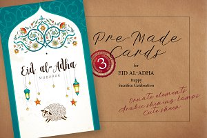 1. Eid Al-Adha Pre-Made Cards