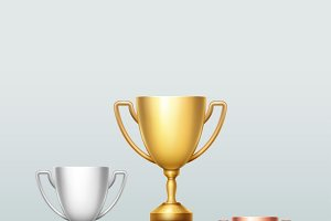 Three vector champion cups
