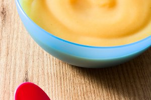 Bowl of fruit puree