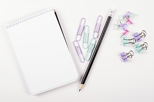 Crayons and stationery. Back to school concept.