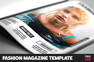 Fashion Magazine Template 16 pages